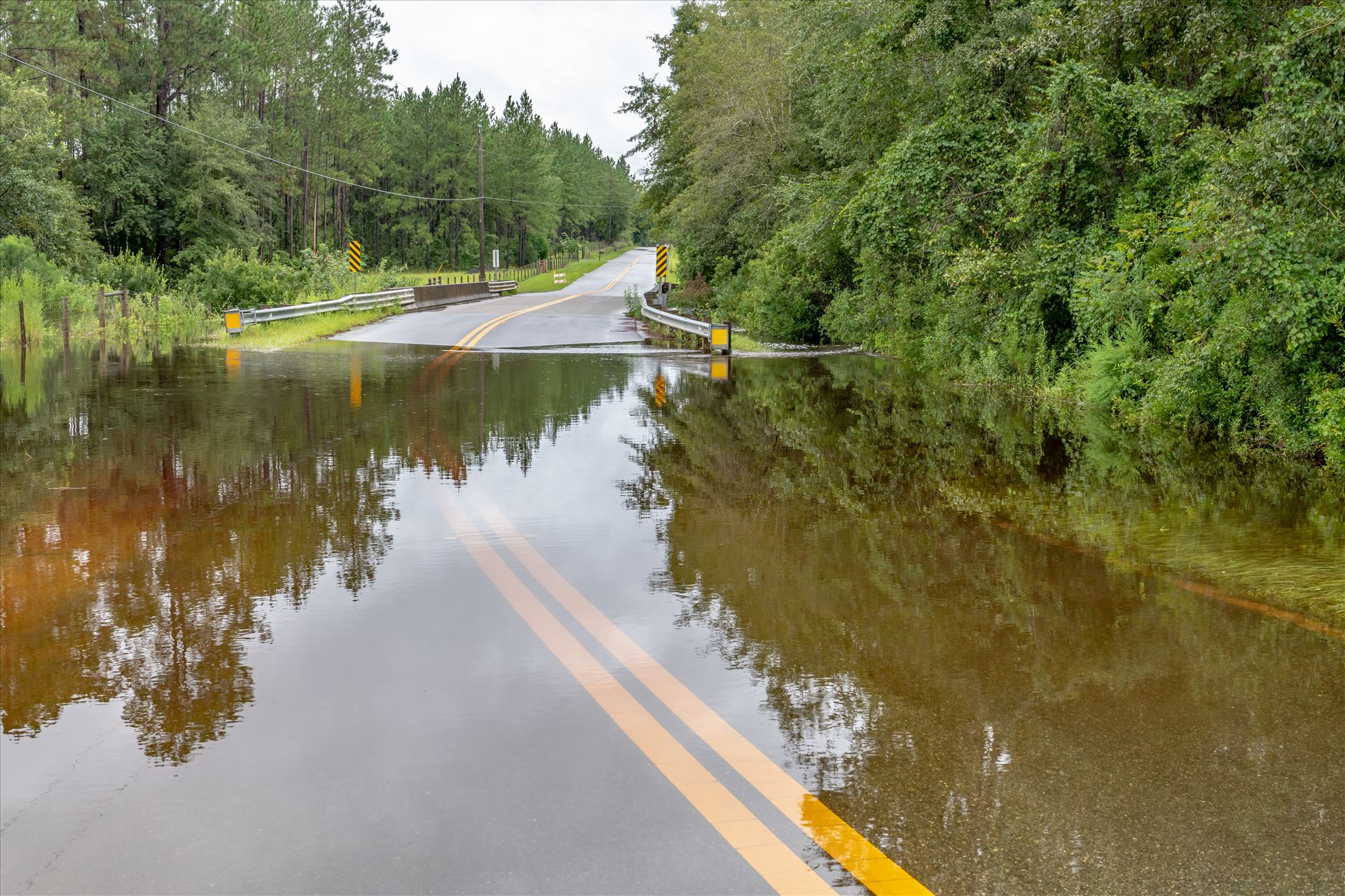 Bear Creek flood of August 02, 2018 - Heavy rains in Bay County Florida, Bear Creek area, South Bear Creek Road, Crook Hollow Road and Ed Lee road