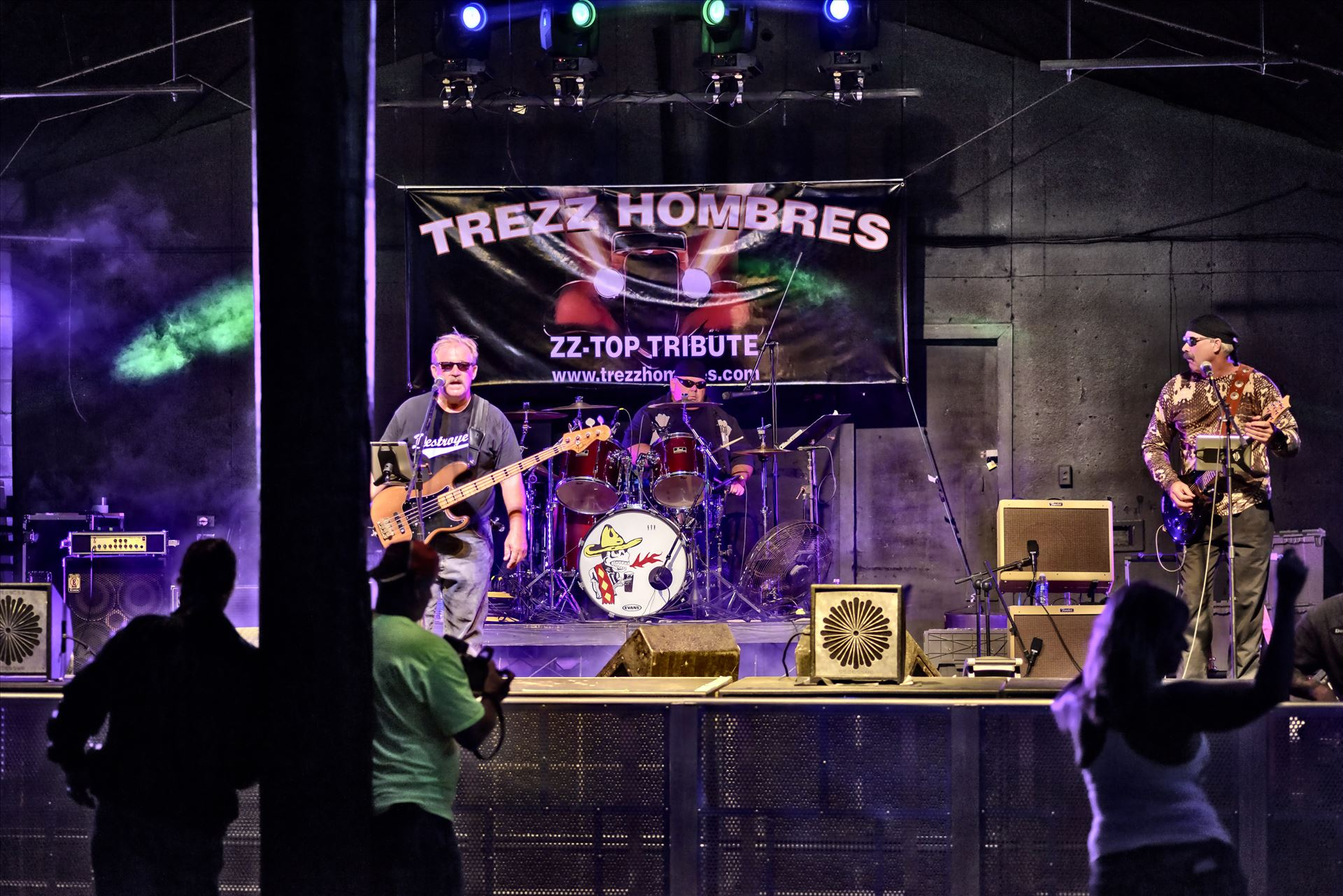 Trezz Hombres at Club La Vela - TREZZ HOMBRES ZZ Top Tribute Band plays at Club La Vela during the Harley Davidson bikini contest
