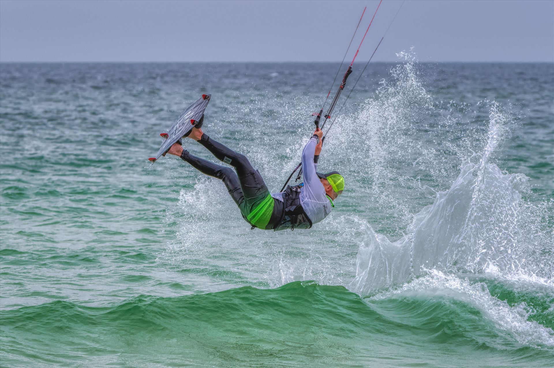 kiteboarding at St. Andrews State Park, Panama City, Florida - kiteboarding at St. Andrews State Park, Panama City, Florida by Terry Kelly Photography