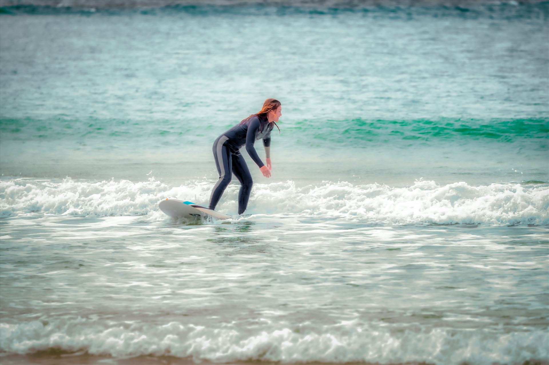 Surfing at St. Andrews State Park -