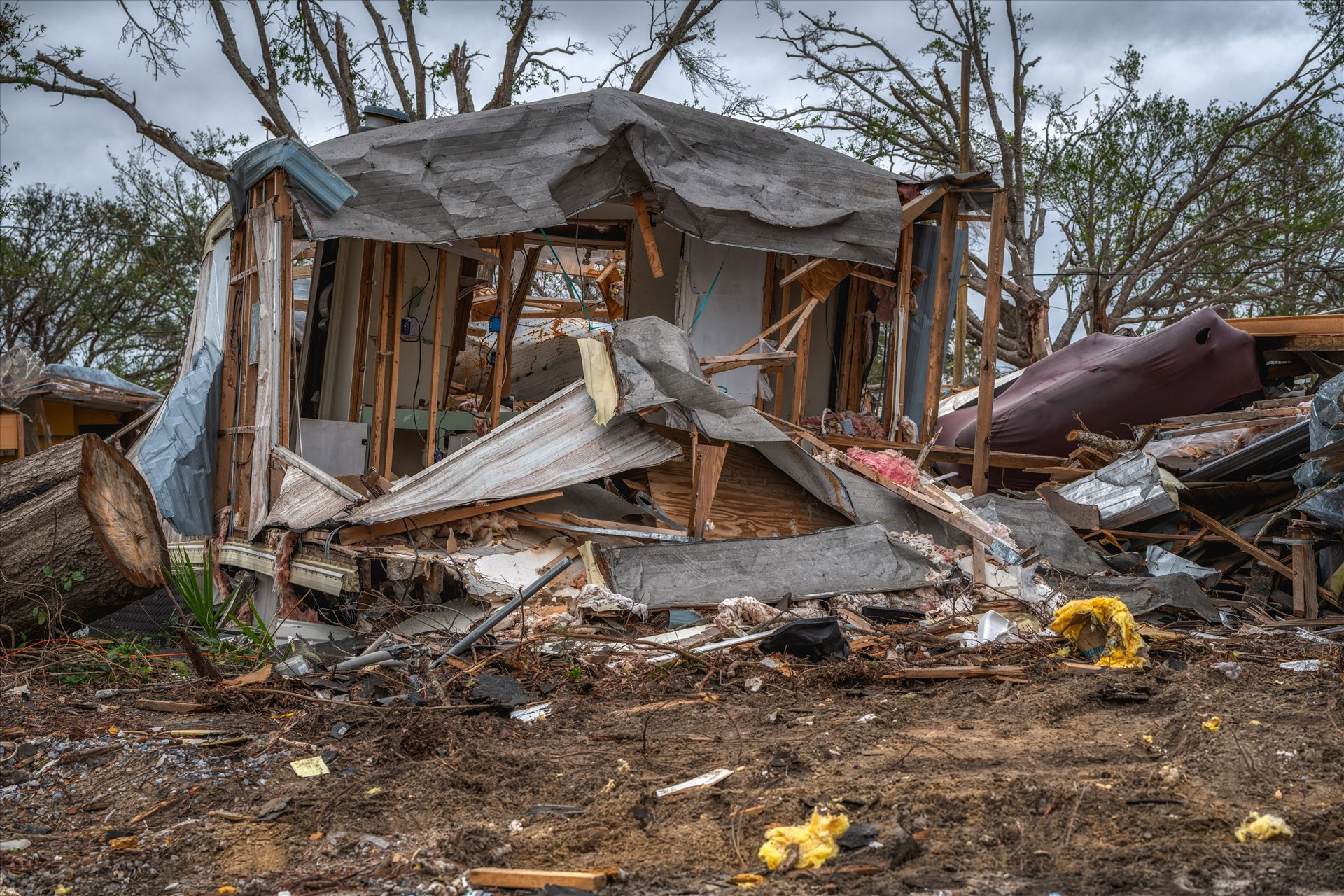 Hurricane Michael - Panama City, Florida, USA 01-05-2019. Mobile home destroyed ss sf-.jpg by Terry Kelly Photography
