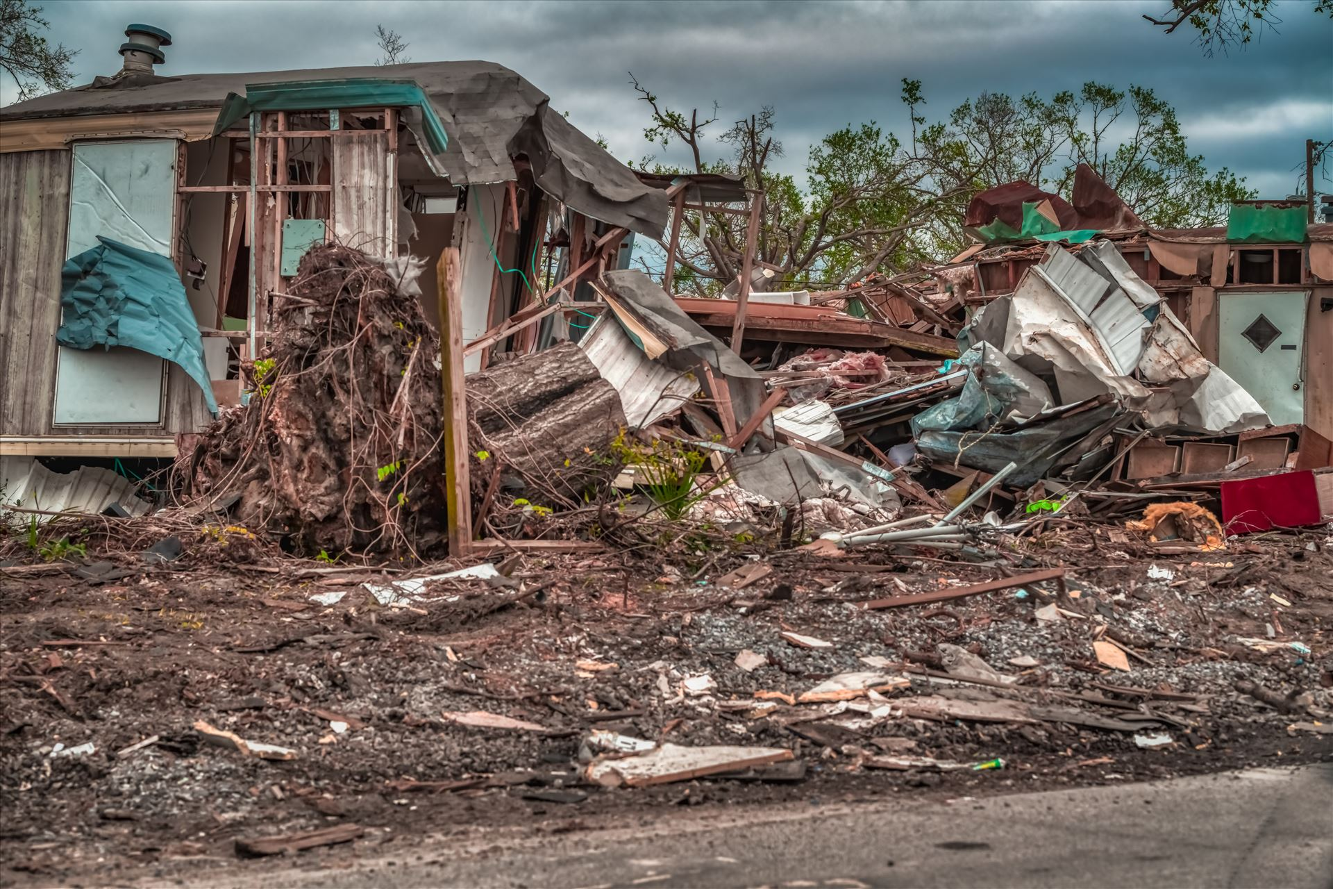Hurricane Michael - Panama City, Florida, USA 01/05/2019. Mobile home destroyed by Terry Kelly Photography