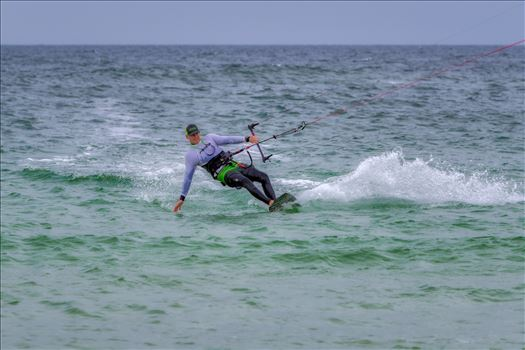 kiteboarding at St. Andrews State Park, Panama City, Florida