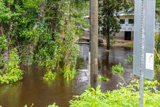 August 02, 2018 heavy rains flooded many parts of Bay County, Florida. This photo is in the Bear Creek area.