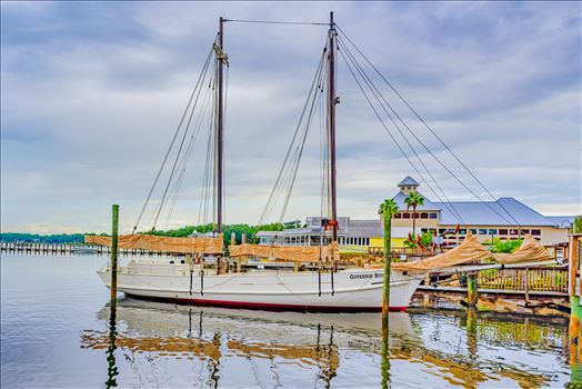 Panama City, Florida, USA. September 16, 2016. Governor Stone is a historic schooner, built in 1877, in Pascagoula, Mississippi. In October 2018, Governor Stone capsized at her dock during Hurricane Michael.