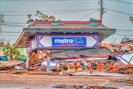 Panama City, Florida, USA. 12/30/2018 metroPCS destroyed by Hurricane Michael